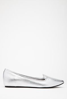 Pointed Faux Leather Flats | FOREVER21 - 2000079692