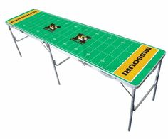 Missouri Mizzou Tigers 8ft Ping/Water/Root Beer/Party Pong Tailgate Table Game