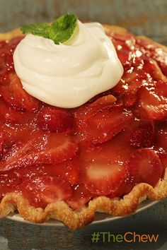 This strawberry pie is sweet & delicious!