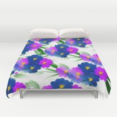 Abundance Of Painted Flowers Duvet Cover