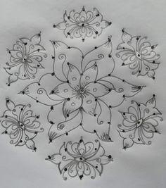 Easy Rangoli Patterns, Simple Rangoli Border Designs, Easy Rangoli Designs Diwali, Rangoli Designs Latest, Rangoli Designs Flower, Free Hand Rangoli Design, Small Rangoli Design, Rangoli Designs With Dots, Beautiful Rangoli Designs