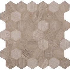 MS International Honeycomb Hexagon 12 in. x 12 in. x 10 mm Natural Marble Mesh-Mounted Mosaic Floor and Wall Tile-HONCOM-2HEX at The Home Depot