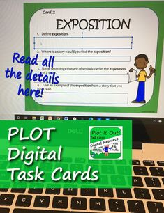 Digital task cards for Google slides for practicing the story element of plot, for students in language arts and reading classes in grades 4, 5, 6, and 7. Close Reading Activities, Reading Resources, Teaching Reading, Reading Comprehension Skills, Reading Skills, Reading Classes, Story Elements, Problem And Solution, Student Learning