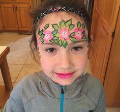 Moana themed face paint #wichita #facepaint #luau #hawaii #tiki