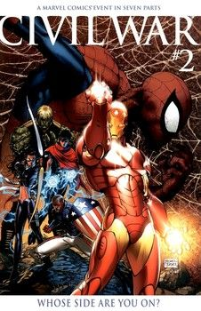 Michael Turner's cover to Civil War 2
