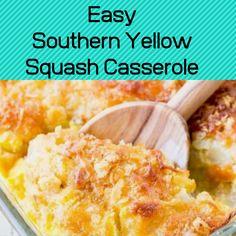 Easy Squash Casserole, Southern Squash Casserole, Casserole Dishes, Casserole Recipes, Squash Caserole, Cracker Barrel Squash Casserole Recipe, Quiche Recipes, Chicken Casserole, Cooking Yellow Squash