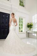2014 V Neck Beaded Lace Wedding Dress Mermaid/Trumpet Chapel Train USD 319.99 VEP98HBN5Y - Vestido2015.com for mobile