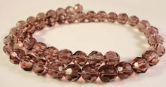 Faceted Glass Rounds 8mm Amethyst Purple by BusyBeeBeadSupplies, $2.85