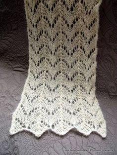 écharpe tricot ajouré point de feuilles