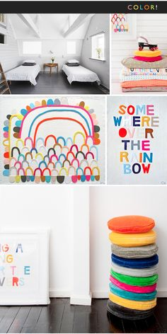 """""""Some where over the rainbow"""" could make it into a pillow THE JEALOUS CURATOR: ART GOES HERE. / sfgirlbybay"""