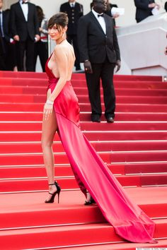 Bella Hadid Wears Quite Possibly The Sexiest Dress Of All-Time To 2016 Cannes Film Festival