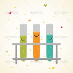 Laboratory Glass Test Tubes  #GraphicRiver         Zip file contains: - eps8…