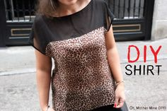 Blog de moda, costura y diy: Oh, Mother Mine DIY!!: DIY Cómo hacer blusa estampada de leopardo (patrones blusa gratis)
