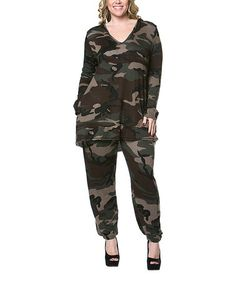 Another great find on #zulily! Green Camo Hoodie - Plus by A La Tzarina #zulilyfinds