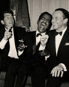 Dean Martin, Sammy Davis Jr., and Frank Sinatra, 1961.
