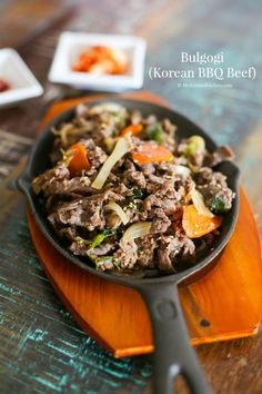 How to make easy, delicious and authentic Bulgogi (Korean BBQ beef) from scratch. It's juicy, sweet, slightly salty and loaded with Korean flavour!