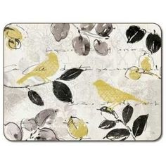 The Set of 4 Birdsong Placemats from Jason of New Zealand Company a...