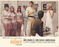In Like Flint, starring James Coburn, Lee J. Cobb, Jean Hale, Andrew Duggan and Anna Lee, 1967