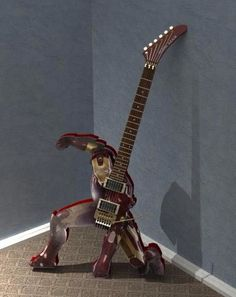 When I see guitars like this I often wonder how well they play, but...it's Iron Man!!