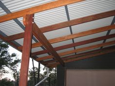 steel verandah roofing ideas - Google Search Patio Roof, Roof Ideas, Patio Ideas, Pergola, Projects To Try, Outdoor Structures, Steel, Google Search, Architecture