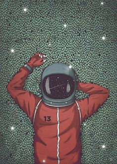 by damian_gorny Astronaut Is a dreamer. Astronaut Drawing, Astronaut Illustration, Space Illustration, Galaxy Wallpaper, Cool Wallpaper, Wallpaper Backgrounds, Space Artwork, Space Drawings, Astronaut Wallpaper