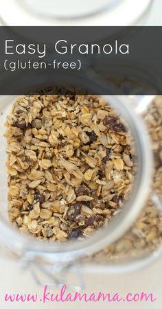 gluten free granola from www.kulamama.com