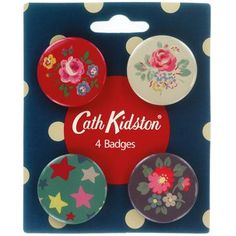 Set of 4 Winter Brights Button Badges