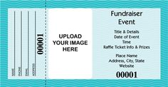Design it yourself! If one of our other charity fundraiser raffle tickets isn't suitable for your event, you can create a fully customized version tailored to your event or cause!