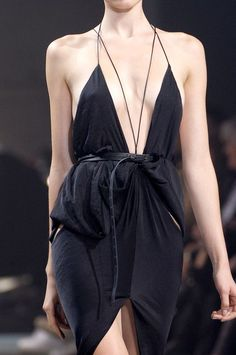 The Perfect Strappy LBD #runway #haiden ackermann