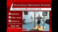 Functional movement self screen