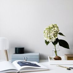 Fabian green is a thin striped wallpaper with 1 cm wide stripes. Welcome to Sandberg Wallpaper. Wallpaper Size, Wall Wallpaper, Pattern Wallpaper, Sandberg Wallpaper, Bedroom Wallpaper, Pink Wallpaper, Striped Wallpaper Design, Designer Wallpaper, Wallpaper Designs
