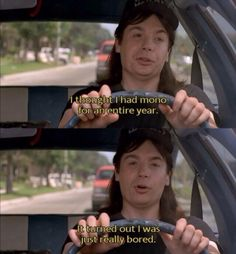 One of the best lines from one of my favorite movies. Party on wayne, party on garth. Funny Movies, Great Movies, Awesome Movies, 90s Movies, Waynes World Quotes, Party On Garth, Wayne's World, Funny Pictures With Captions, Star Wars