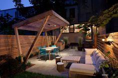 100 лучших идей для дизайна двора в частном доме на фото