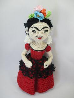 Painter Frida Kahlo Handmade Crochet Doll by MumMadeDolls on Etsy, £15.00