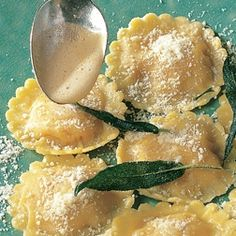 Pumpkin Ravioli Recipe - Our pre-race meal of choice in Disney. I'll have to veganize it, but I'm going to try!