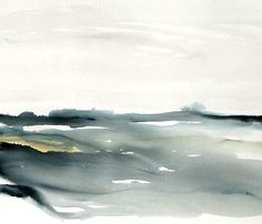 Large original Abstract Landscape watercolor painting, Abstract Landscape Watercolor, Contemporary Watercolor Painting. Blue, black, white. Modern watercolor art, Title : MODERN COASTAL Medium : Watercolor on fineart 200 lbs, 400gr watercolor rag paper. Material : Unframed to