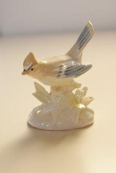Vintage Ceramic Jay Bird Figurine.
