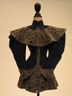 Navy Wool Jacket with Gold Trim 1896 -1896
