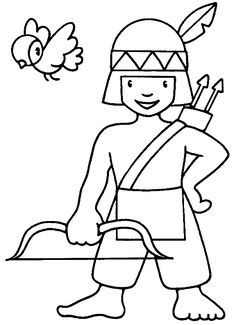 Animations A 2 Z - Coloring pages of Native americans