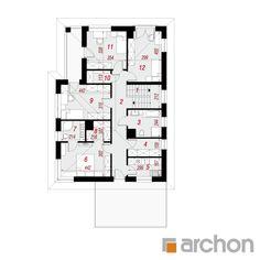 Projekt domu Willa Cecylia - ARCHON+ Small House Design, Floor Plans, Architecture, Arquitetura, Design For Small House, Small Home Design, Architecture Design, Floor Plan Drawing, House Floor Plans