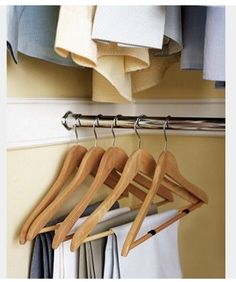 ¥ felt glides on hangers keep clothes from sliding off.