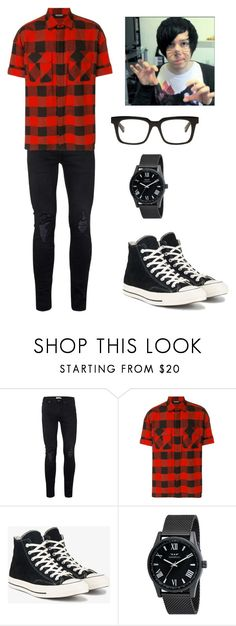 """""""Phil Lester aka Amazing phil <3"""" by emoemily21 ❤ liked on Polyvore featuring Topman, Neil Barrett, Converse, Belstaff, men's fashion and menswear"""