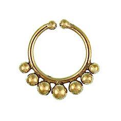 Chic-Net Septum Piercing naso finto palle anelli di ottone nickel oro orecchino tribale antico libero Chic-Net http://www.amazon.it/dp/B00PIWAIWA/ref=cm_sw_r_pi_dp_Qgghvb1WPH4XV