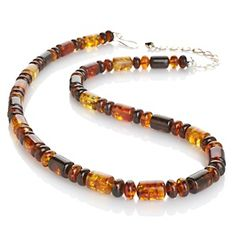 "Jay King Amber Beaded Sterling Silver 20"" Necklace at HSN.com."