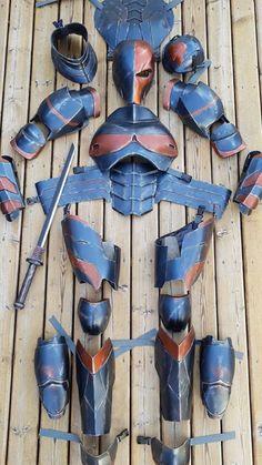 Cosplay Armor, Male Cosplay, Cosplay Diy, Best Cosplay, Deathstroke Costume, Dc Deathstroke, Armadura Ninja, Stormtrooper, Foam Armor