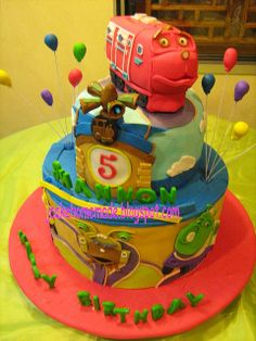 Possible bday cake. I'm thinking Chuggington themed! Baby Boy Birthday, Boy Birthday Parties, 2nd Birthday, Birthday Ideas, Chuggington Birthday, 1st Bday Cake, Fancy Desserts, Themed Cakes, Let Them Eat Cake