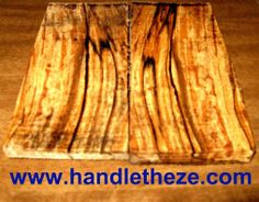Handle Theze - Book Matching Pair Of Spalted Apple Knife Scales Dry (832), $9.99 (http://www.handletheze.com/book-matching-pair-of-spalted-apple-knife-scales-dry-832/)