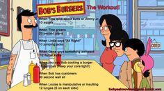 Bobs burgers workout