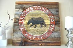 Yellowstone Grizzly Rustic Barnwood Sign | Distinctly Montana Gifts