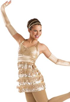 Satin Sequin Fringe Dress -Weissman Costumes